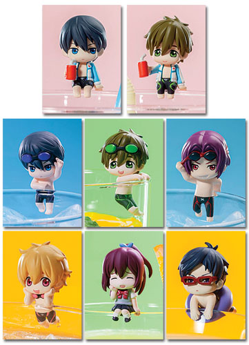 Free! - Ochatomo Series Figures (8pcs / Set), an officially licensed Free Bobble Head/ Figure