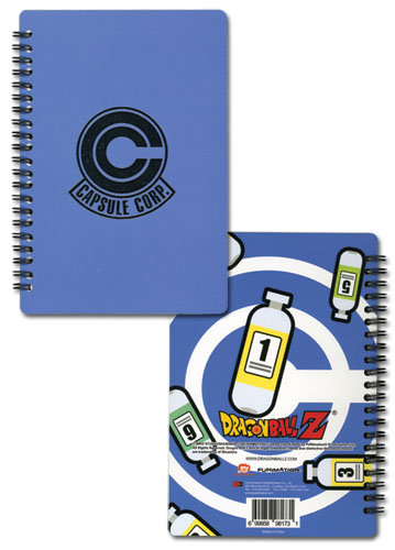Dragon Ball Z Capsule Corp Notebook, an officially licensed Dragon Ball Z Stationery