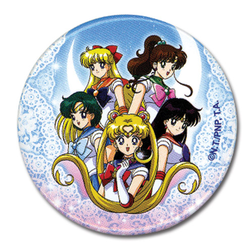 Sailormoon Group Button 1.25