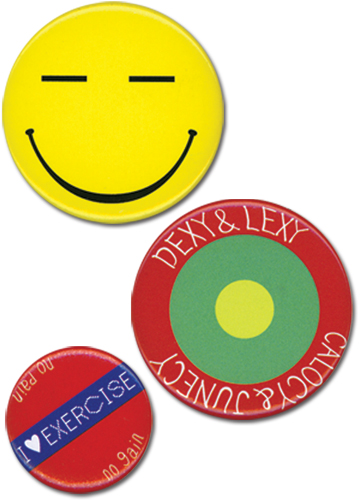 Persona 4 Chie Button 3 Piece Set officially licensed Persona Buttons product at B.A. Toys.