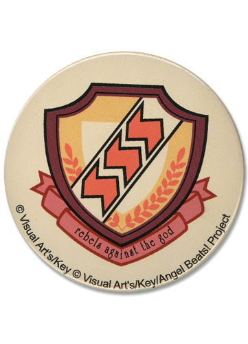 Angel Beats School Emblem 3Button, an officially licensed Angel Beats product at B.A. Toys.