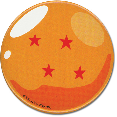 Dragon Ball Z Ball 4 1.25' Button officially licensed product at B.A. Toys.