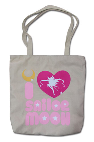 Sailor Moon - I Love Sailor Moon Tote Bag, an officially licensed product in our Sailor Moon Bags department.