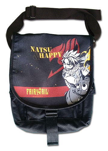 Fairy Tail - Natsu & Happy Messenger Bag, an officially licensed product in our Fairy Tail Bags department.