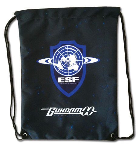 Gundam 00 - Esf Drawstring Bag, an officially licensed product in our Gundam 00 Bags department.