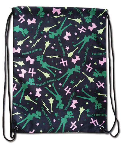 Sailor Moon - Sailor Jupiter Pattern Drawstring Bag, an officially licensed product in our Sailor Moon Bags department.