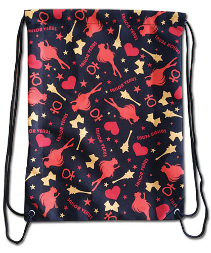 Sailor Moon - Sailor Venus Pattern Drawstring Bag, an officially licensed product in our Sailor Moon Bags department.