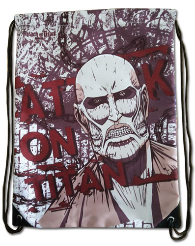 Attack On Titan - Colossal Titan Red Drawstring Bag, an officially licensed product in our Attack On Titan Bags department.