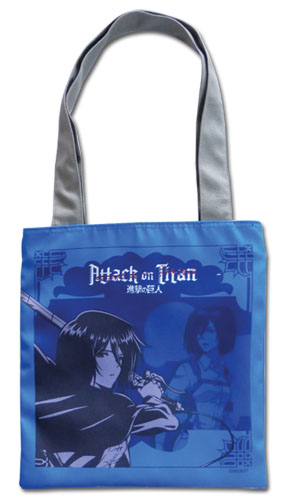 Attack On Titan - Blue Mikasa Tote Bag, an officially licensed product in our Attack On Titan Bags department.