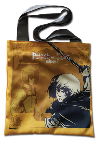 Attack On Titan - Yellow Armin Tote Bag, an officially licensed product in our Attack On Titan Bags department.