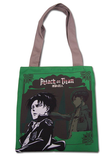 Attack On Titan - Green Levi Tote Bag, an officially licensed product in our Attack On Titan Bags department.