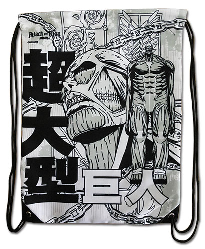 Attack On Titan - Colossal Titan Drawstring Bag, an officially licensed Attack On Titan product at B.A. Toys.