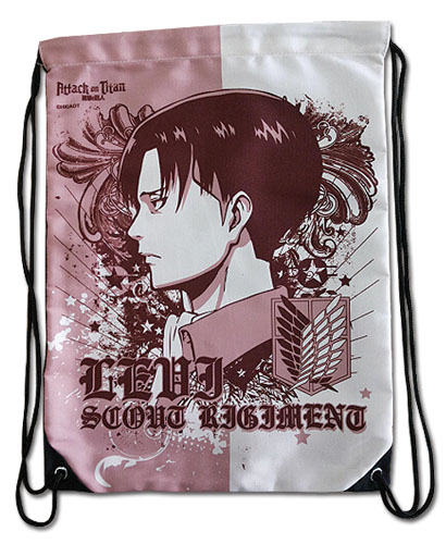 Attack On Titan - Levi Side Face Drawstring Bag, an officially licensed product in our Attack On Titan Bags department.