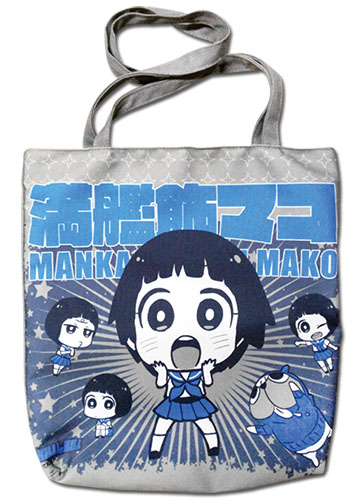 Kill La Kill - Mako & Guts Gray Tote Bag, an officially licensed product in our Kill La Kill Bags department.