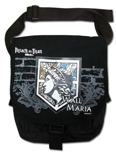 Attack On Titan - Wall Maria Messenger Bag, an officially licensed product in our Attack On Titan Bags department.