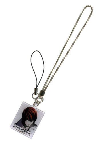 Death Note Light Pola Cell Phone Charm, an officially licensed Death Note Cell Phone Accessory