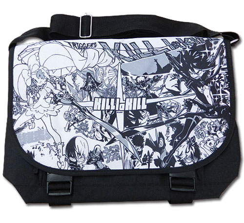 Kill La Kill - Black & White Messenger Bag, an officially licensed Kill La Kill product at B.A. Toys.