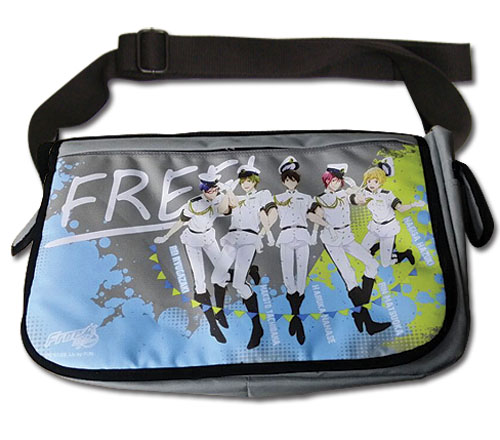 Free! 2 - Group Navy Messenger Bag, an officially licensed product in our Free! Bags department.