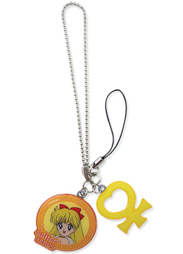 Sailormoon Sailor Venus & Symbol Metal Cellphone Charm, an officially licensed Sailor Moon Cell Phone Accessory