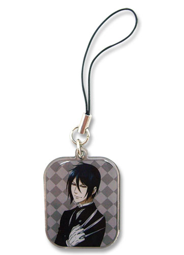 Black Butler 2 Sebastian Cellphone Charm, an officially licensed Black Butler product at B.A. Toys.
