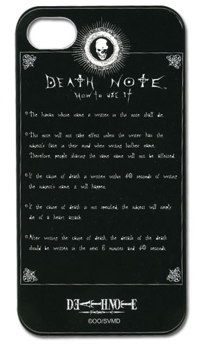 Death Note Rule Iphone 4 Case, an officially licensed Death Note Cell Phone Accessory
