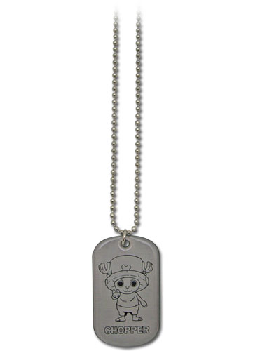 One Piece Chopper Dog Tag Necklace, an officially licensed product in our One Piece Jewelry department.