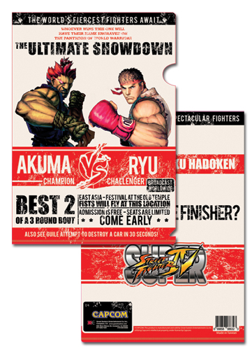 Super Street Fighter Iv Akuma Vs Ryu File Folder (5 Pcs Pack), an officially licensed product in our Super Street Fighter Binders & Folders department.