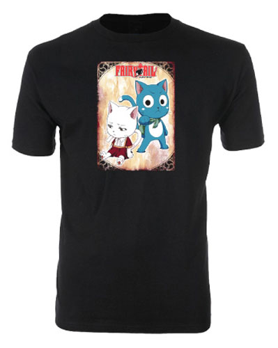 Fairy Tail - Happy & Carla Men's Screen Print T-Shirt L, an officially licensed product in our Fairy Tail T-Shirts department.