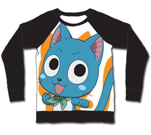 Fairy Tail - Happy Long Sleeve Shirt L, an officially licensed product in our Fairy Tail T-Shirts department.