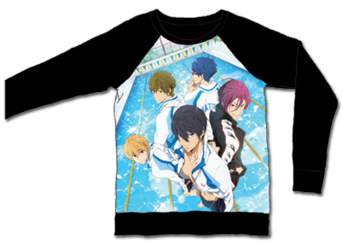 Free! - Main Group Pullover Long Sleeve L, an officially licensed product in our Free! T-Shirts department.