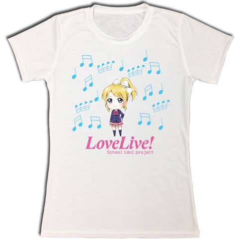 Love Live! - Eli Jrs. Sublimation T-Shirt L, an officially licensed product in our Love Live! T-Shirts department.
