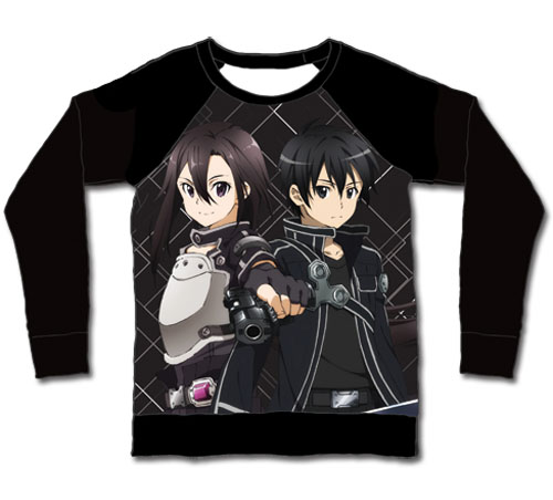 Sword Art Online Ii - Kirito And Kirito Sublimation Long Sleeve L, an officially licensed product in our Sword Art Online T-Shirts department.