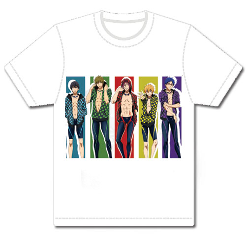 Free! - Group Line-Up Men's T-Shirt L, an officially licensed product in our Free! T-Shirts department.