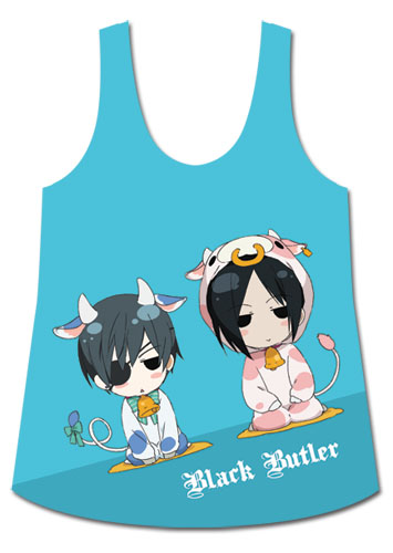 Black Butler - Ciel & Sebastian Tank Top XL, an officially licensed Black Butler product at B.A. Toys.
