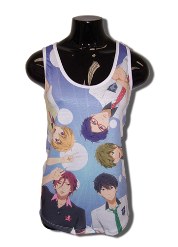 Free! - Group Top Down Tank Top L, an officially licensed product in our Free! T-Shirts department.