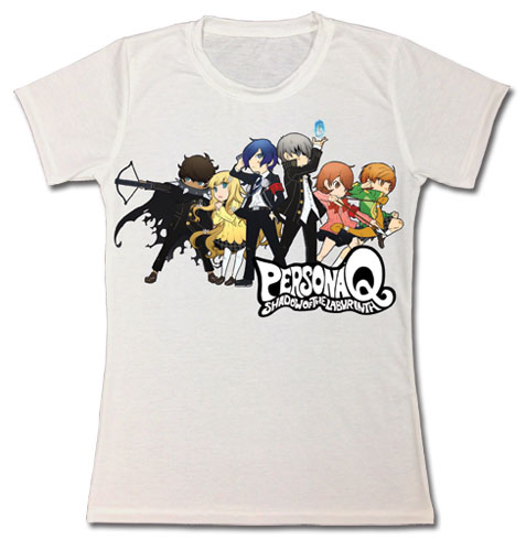 Persona Q - Group Line-Up Jrs. T-Shirt L, an officially licensed product in our Persona T-Shirts department.