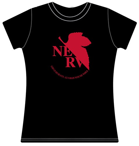 Evangelion - Nerv Logo Jrs. T-Shirt L officially licensed Evangelion T-Shirts product at B.A. Toys.