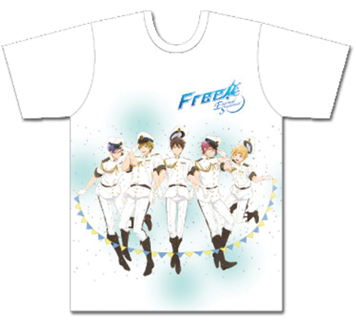 Free! 2 - Main Group Mens Sublimation T-Shirt L, an officially licensed product in our Free! T-Shirts department.