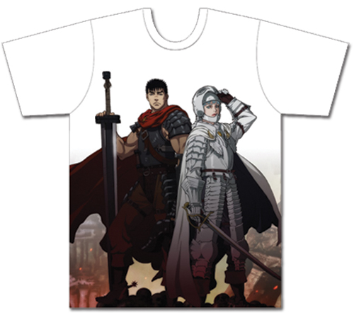 Berserk - Guts And Griffith Mens Sublimation T-Shirt XL, an officially licensed Berserk product at B.A. Toys.