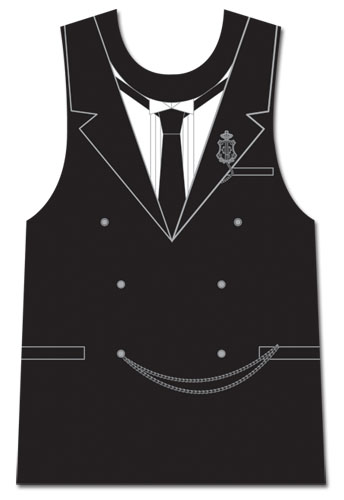 Black Butler - Sebastian Tuxedo Muscle Shirt L, an officially licensed product in our Black Butler T-Shirts department.