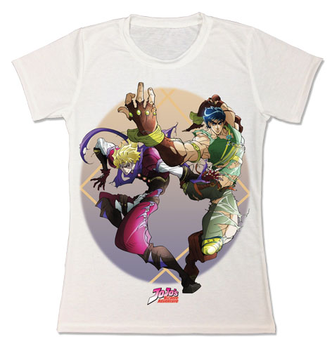 Jojo's Bizarre Adventure - Jonathan & Dio Sublimation Jrs T-Shirt L, an officially licensed product in our Jojo'S Bizarre Adventure T-Shirts department.