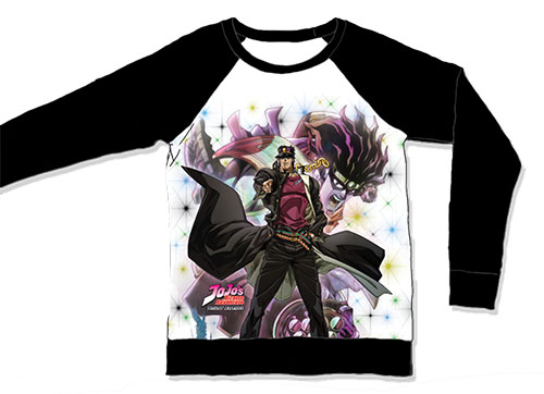 Jojo - Jonathan Sublimation Long Sleeve Raglan L, an officially licensed product in our Jojo'S Bizarre Adventure T-Shirts department.