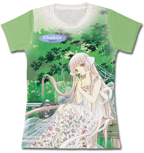 Chobits - Chobit At Park Jrs. Sublimated T-Shirt L officially licensed Chobits T-Shirts product at B.A. Toys.