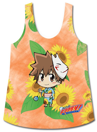 Reborn! - Tsuna Sd And Sunflowers Sublimation Tank Top L, an officially licensed product in our Reborn! T-Shirts department.