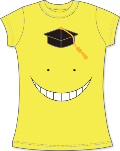 Assassination Classroom - Koro Sensei Face Jrs. Screen Print T-Shirt L, an officially licensed product in our Assassination Classroom T-Shirts department.