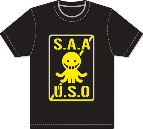 Assassination Classroom - Logo Men Screen Print T-Shirt S, an officially licensed Assassination Classroom product at B.A. Toys.