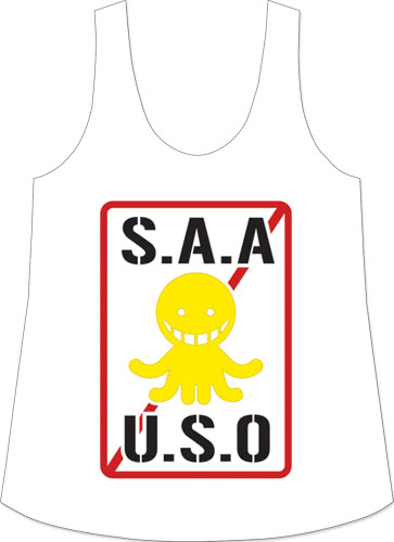 Assassination Classrom - Saauso Logo Tank Top S, an officially licensed Assassination Classroom product at B.A. Toys.
