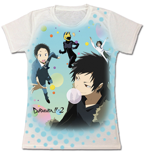 Durarara!! X2 - Mikado & Others Sublimation Jrs. T-Shirt L officially licensed Durarara!! T-Shirts product at B.A. Toys.