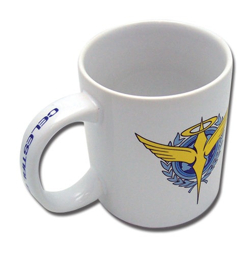 Gundam 00 Celestial Being Mug, an officially licensed product in our Gundam 00 Mugs & Tumblers department.