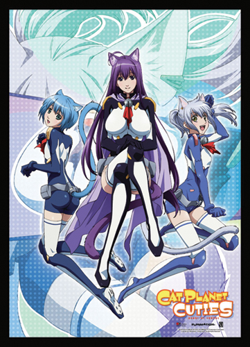 Cat Planet Cuties Kuune, Melwin, And Chaika Wallscroll, an officially licensed Cat Planet Cuties Wall Scroll